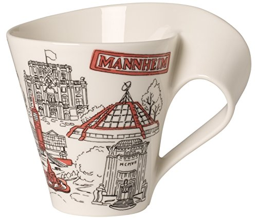 Villeroy & Boch 10-1625-5064 Cities of The World Kaffeebecher, Premium Porzellan, Weiß/Mehrfarbig